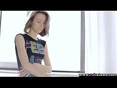RubATeen - Tall skinny European teen Dunya bang...