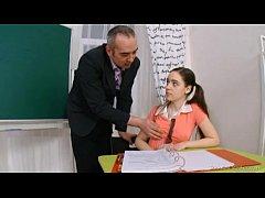 Mature teacher fucks barely legal pussy