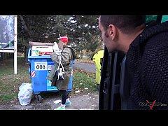 Garbage woman turn to...
