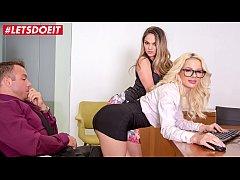 LETSDOEIT - Horny Secretaries Bella Rose And At...