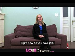 Love Creampie Shy blonde teen gets a pounding f...