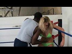 Blonde vs Black Guy Maledom Interracial Mixed W...