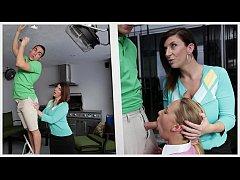 BANGBROS - Stepmom MILF Sara Jay Threesome With...