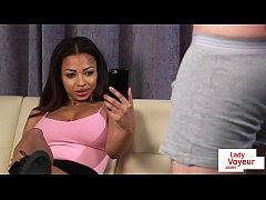 Bigtitted british voyeur teasing...