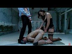 Brunette bondage mistress femdom video
