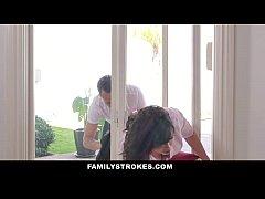 FamilyStrokes - MILF Stuck & Fucked By Both Ste...