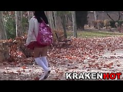 thumb schoolgirl ath the park  voyeur in public