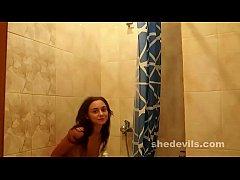 Ultra skinny Russian teen freakshow Dominika in...