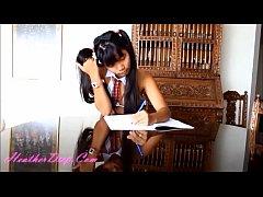 HD heather deep sexy school girl gets fucked an...