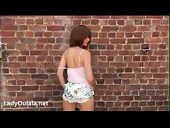LadyOulala Flashing in Public