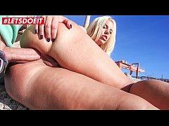 LETSDOEIT - Busty Blondie Fesser Gets Ass Fucked At The Beach