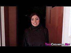Muslim teen gets creampie