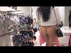 No panties shopping public...