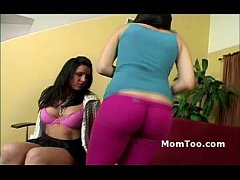 Busty brunette mom and thick inexperienced daug...
