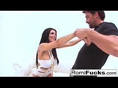 Gonzo sex with porn starlet Romi Rain & Euro st...