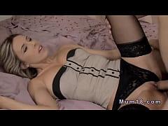 Blonde milf in lingerie fucking in bed   XVIDEOSCOM