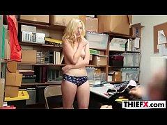 Blonde Zoe Parker Gets Punished By The Officer