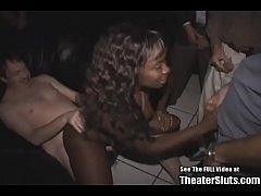 Braces Teen Ebony Slut Theater Gangbang