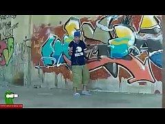 Cock suck near the graffiti. SAN140