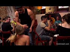 Naked Euro blonde beauty in public