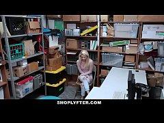 thumb shoplyfter    cute blonde teen takes huge load