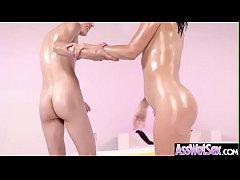 (Kristina Rose) Big Oiled Ass Slut Girl Love Hardcore Deep Anal Sex clip-17