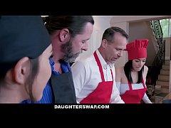 DaughterSwap - Teens Get Dicked Down By Hot Dad...