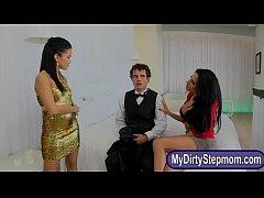 Jaclyn Taylor and Megan Rain nasty threesome on...