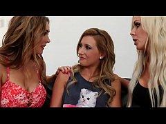 Hot Lesbian Family Threesome...