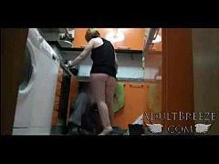 Real spy camera captures mom seducing plumber