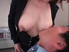 asian boss feeds worker...more at nipplesrlife.com