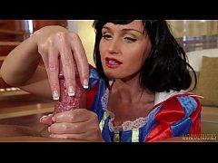 thumb i ll eat all  your warm seed   snow white oily handjob on big dick pov with kathia nobili   part 2