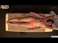 JAV star Asahi Mizuno CMNF erotic oil massage S...