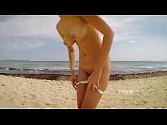 thumb cute teen nude  on beach