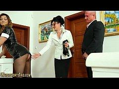 Fetish maid drinks urine