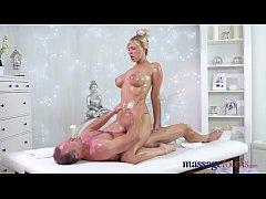 Massage Rooms Horny big tits blonde Milf sucks ...