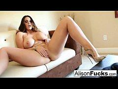 Big boobed hottie Alison Tyler plays with her p...