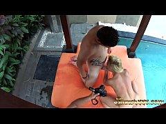 HIDDEN CAM - Intense sex by the pool - Cherry Kiss