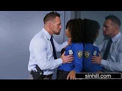 Horny Ebony Cop Wants To Fuck Not Interrogate - Misty Stone
