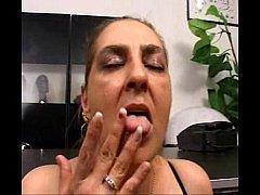 Tina Monti hairy Italian mature - anal office u...