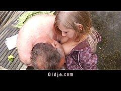 Incredible sex between sweet teenager and old b...