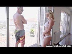 Marina admires Nacho Vidal's huge cock through ...