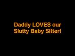 Daddy eats BabySitters CREAM PIE