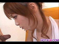 Impressive blowjob by steamy Japan av model