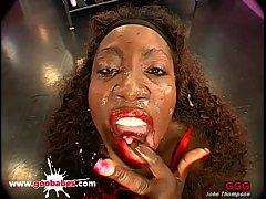 Black Babe Bernadette Bukkake Gangbang - German...