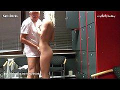 My Dirty Hobby - Peeping Tom locker room surprise