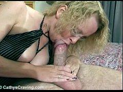 Cathy manage a big mushroom fat cock