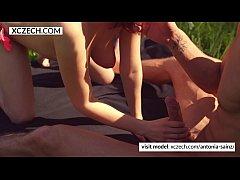 Hot Outdoor Sex with czech beauty - XCZECH.com