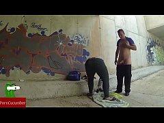 Painting graffiti with semen