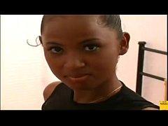 This Ebony Cutie Flashes Nice